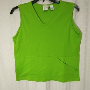 Actra green tank top with pocket size L